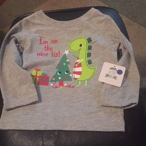Other - Dinosaur Christmas long sleeve shirt